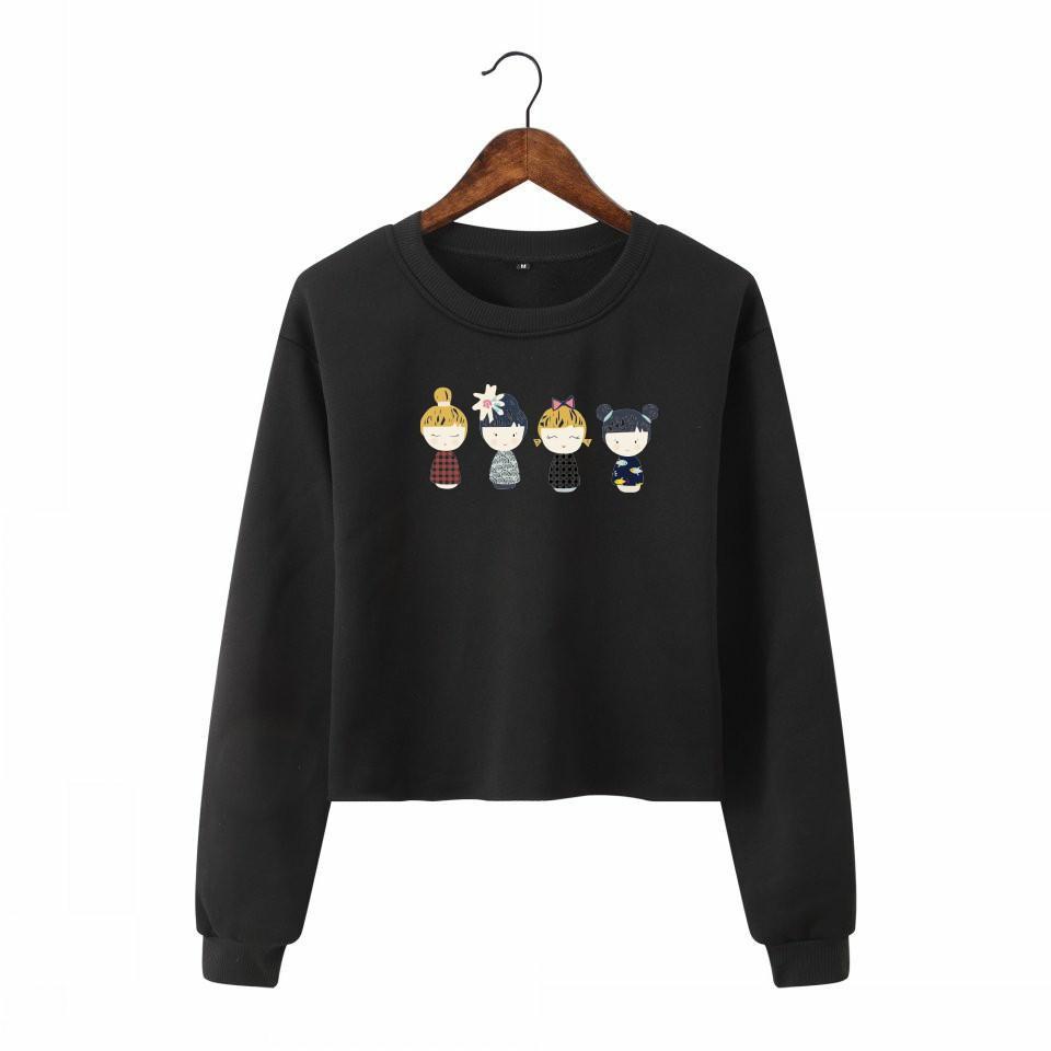 267dedd69 2019 Kawaii Sweatshirts Women Hoodies Fall Graphic Tee Tops Sexy Cropped  Tees Shirts From Veilolive, $22.33 | DHgate.Com