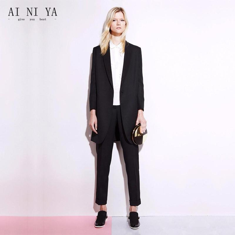 e3762dca7c9e0 2019 Black Work Wear Women Office Business Suits Pants Sets Ladies ...