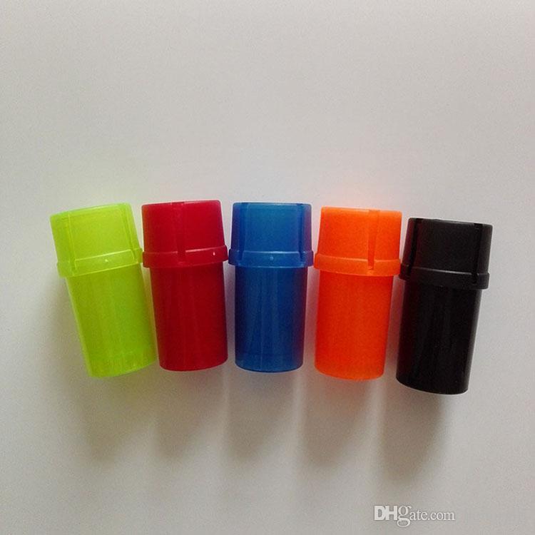 Bouchon de bouteille en plastique Abrader Tool Fumer Accessoires Accessoires de tabac à tabac Stagiperie 3 couches Grinders Broyeur 5 couleurs
