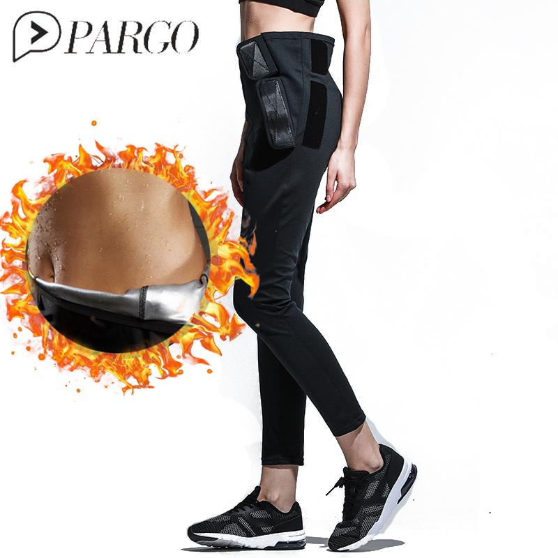 8810d425442fa 2019 PARGO Women Hot Shapers Sauna Sweat Pants Body Shaper Weight Lose Fat  Burne Stretch Slimming Waist Pants Punning Poga Pctivewear From Booket