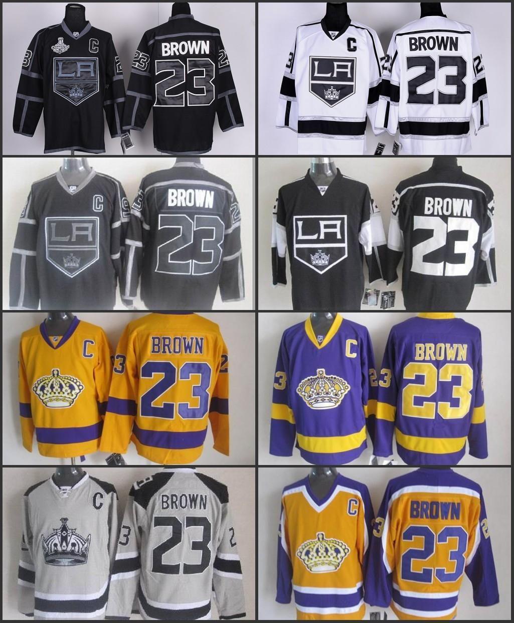 new style 484fc 56813 Dustin Brown Jersey 23 Cheap Los Angeles Kings jersey Brown men White Black  LA Kings Authentic Hockey Jerseys