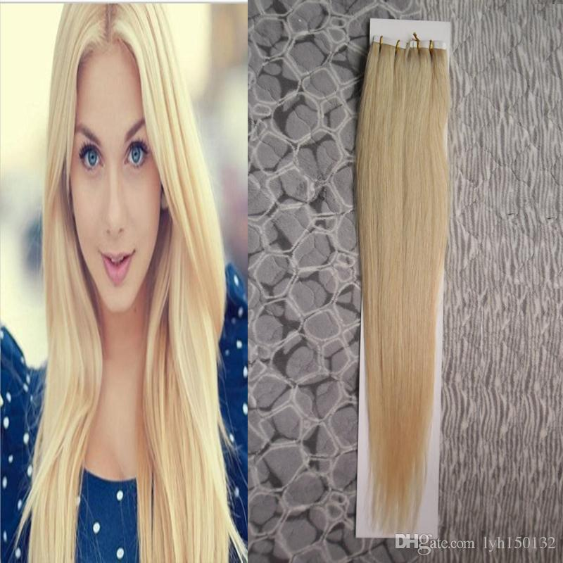 Blonde Straight Brazilian Tape In Hair Extension 100g Blonde Tape