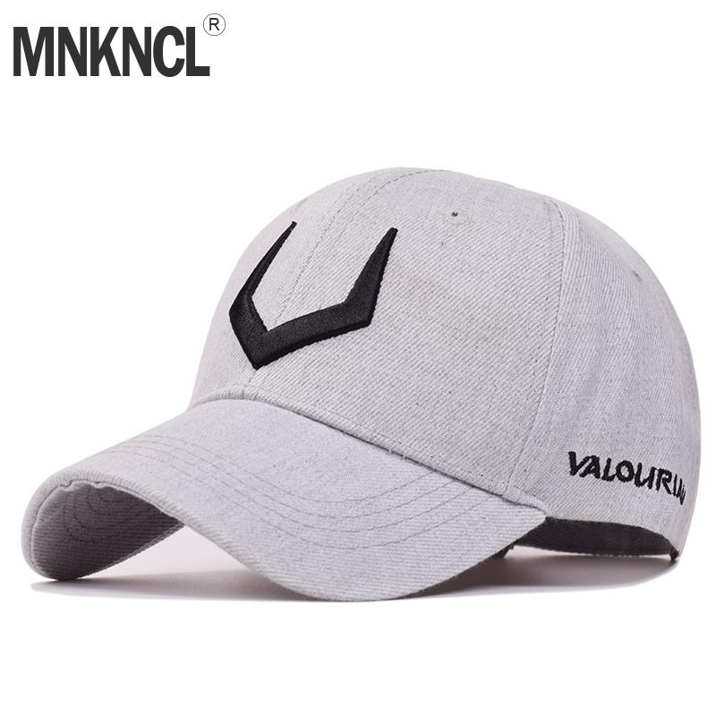 4ea8689c42c MNKNCL 2018 New High Quality Hat 100%Cotton Snapback Cap V 3D Embroidery  Baseball Cap Men And Women Caps Flat Cap Trucker Hats From Heheda1