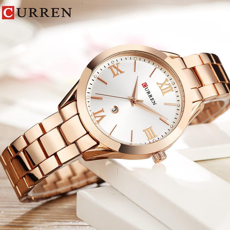 532dfc4cdae953 Women Watches Luxury Rose Gold Quartz Ladies Watch Relogio Feminino Fashion  Curren Brand Women Clock Wrist Watches For Women New Y18102310 Best Watches  ...