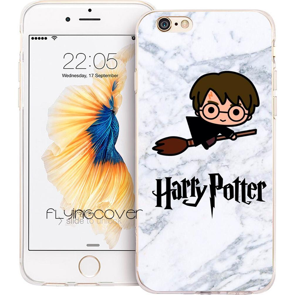 3d1b3411879 Fundas Harry Potter Marble Shell Cases For IPhone 10 X 7 8 Plus 5S 5 SE 6  6S Plus 5C 4S 4 IPod Touch 6 5 Clear Soft TPU Silicone Cover.