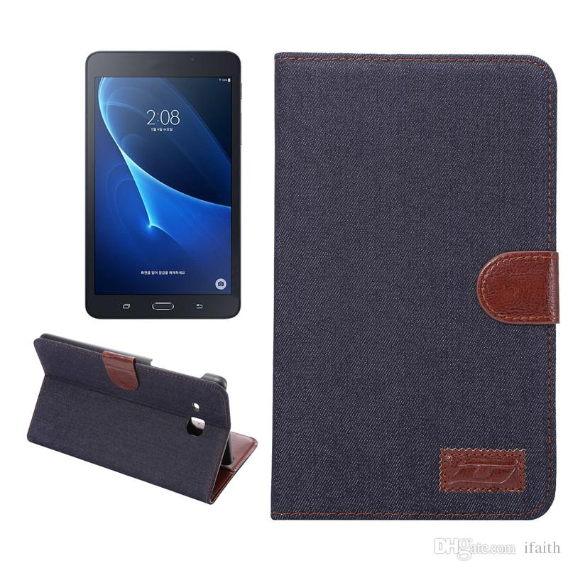 Case For Samsung Tab A 7.0 T280 Smart Cover Folding Folio Case For Women  Men Fashion Denim PU Kickstand High Quality 8 Tablet Case 10 Inch Tablet  Case From ... 001922e5e3