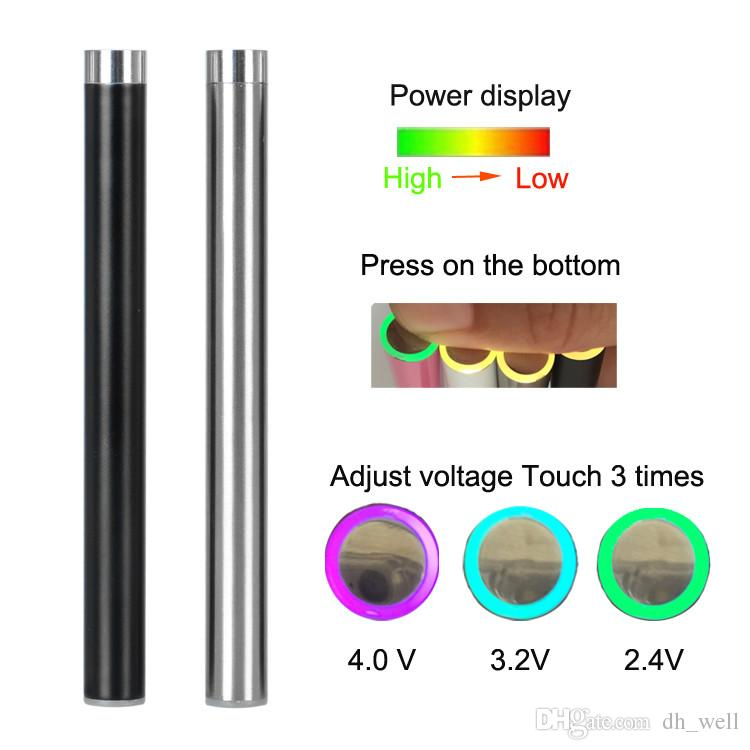 Oiginal 510 hilo batería Mix2 280mah lo 350mah Pre calor batería aceite sin botón baterías Para el vaporizador desechable cigarrillo electrónico Vape pluma