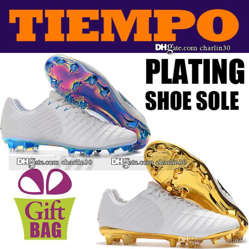 310790969 Compre 2018 Nueva Alta Calidad Para Hombre Botines De Fútbol Botas Tiempo  Legend VII Elite FG ACC Zapatos De Fútbol Al Aire Libre De Cuero Blanco  Botas De ...