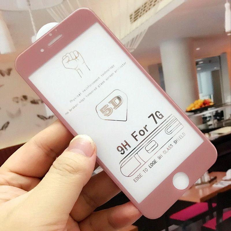 Nouvelle arrivée 3D 4D 5D protecteur d'écran incurvée pour iPhone X 8 7 6 6 Plus XS XR XS film de couverture complète Max pour iPhone 6 film de verre trempé