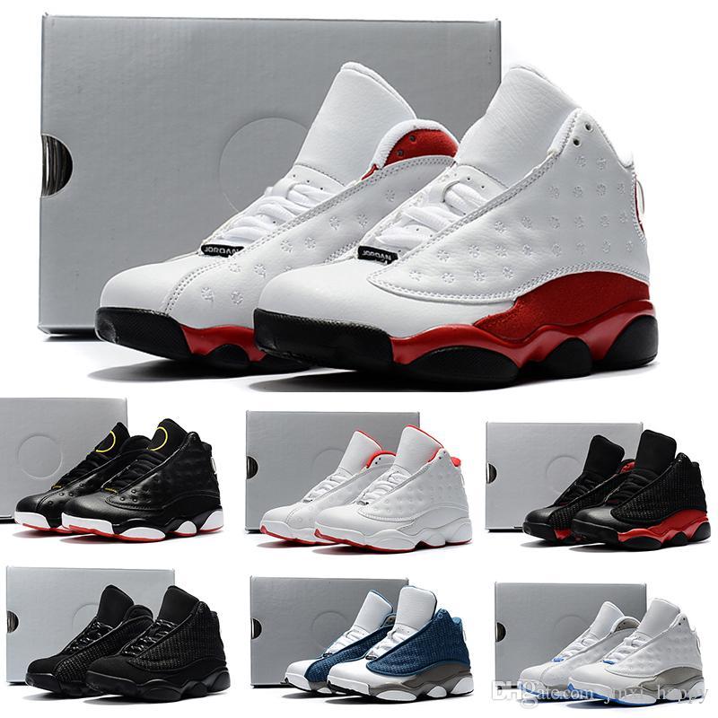 d657102e5 Compre Nike Air Jordan 13 Retro KIDS 13s Zapatillas De Baloncesto One Penny  Hardaway Tennis Tennis FOAM Berenjena Baloncesto Zapatillas Deportivas ...