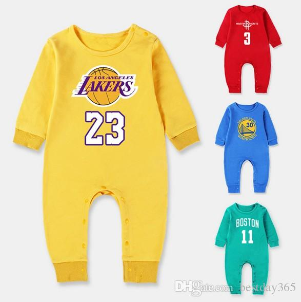 8ba4038cf617 2019 Autumn Unisex New Born Boy Girl Clothing 100%Cotton Basketball Long  Sleeve Romper Baby Sport Clothes Jumpsuit Baby Clothing From Bestday365