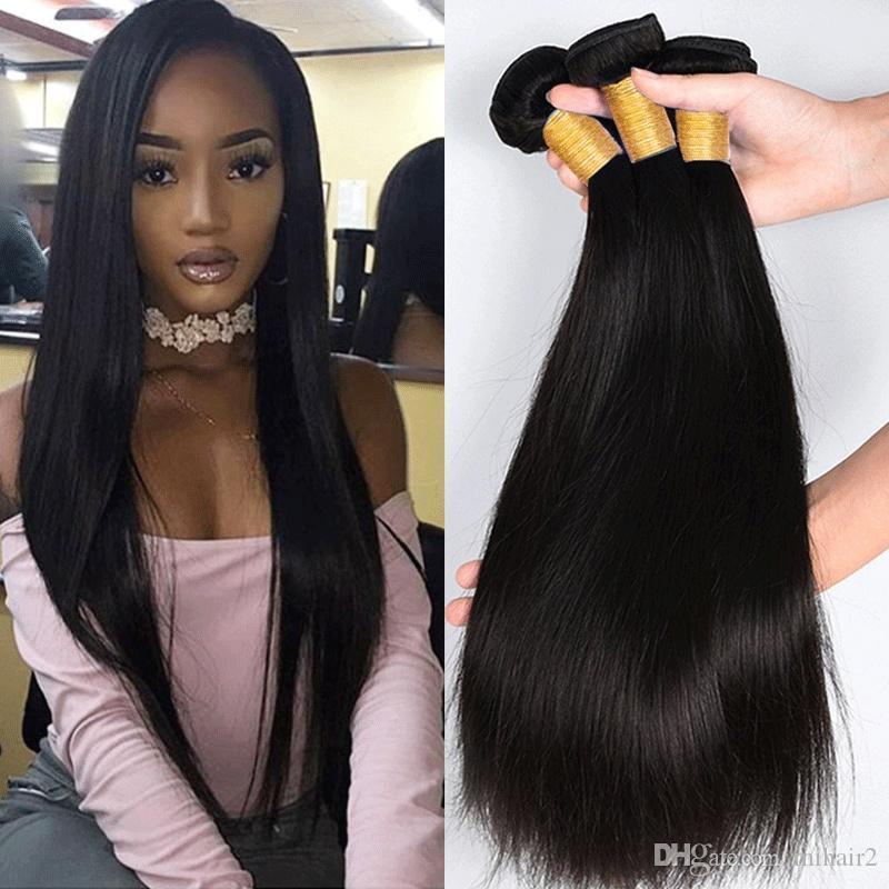 Brazilian Straight Hair 3 Bundles Unprocessed Virgin Hair Wefts 100