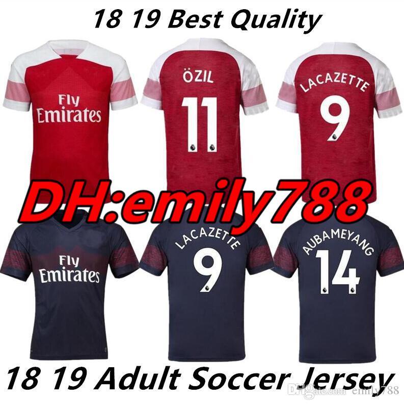 best service 661f0 b211b 2018 Arsenal Gunners OZIL AUBAMEYANG soccer jersey 18 19 ALEXIS WILSHERE  GIROUD LACAZETTE CHAMBERS XHAKA home football shirt