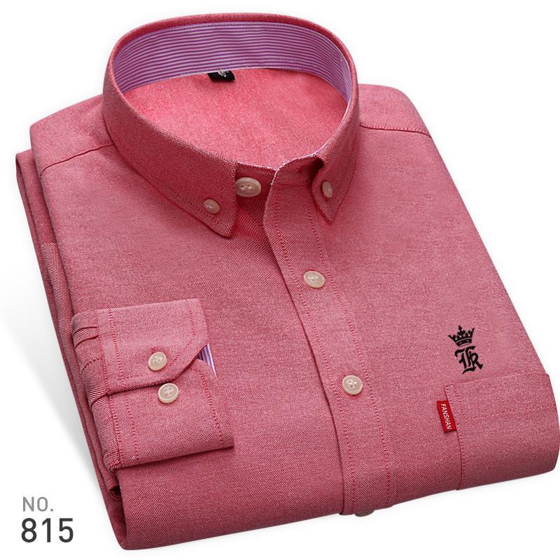 Compre Alta Calidad Sergio K New Arrived Oxford Para Hombre Camisas De Marca  Bordado De Manga Larga De Color Sólido Hombres Camisas De Vestir Camisa  Blanca ... 386f6d30d65