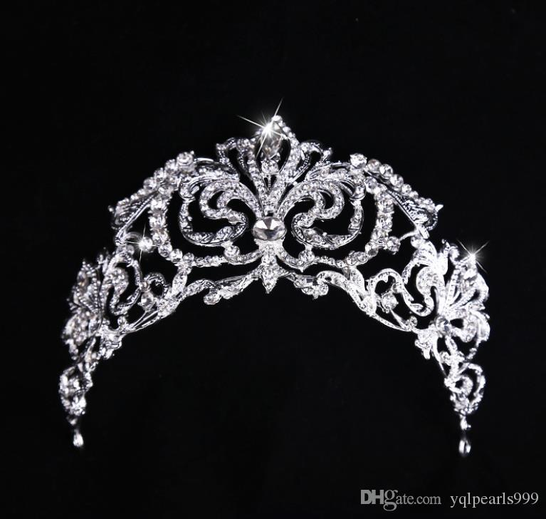 Silver plated alloy drill jewelry, bridal crown bridal crown ornament wedding photo accessories