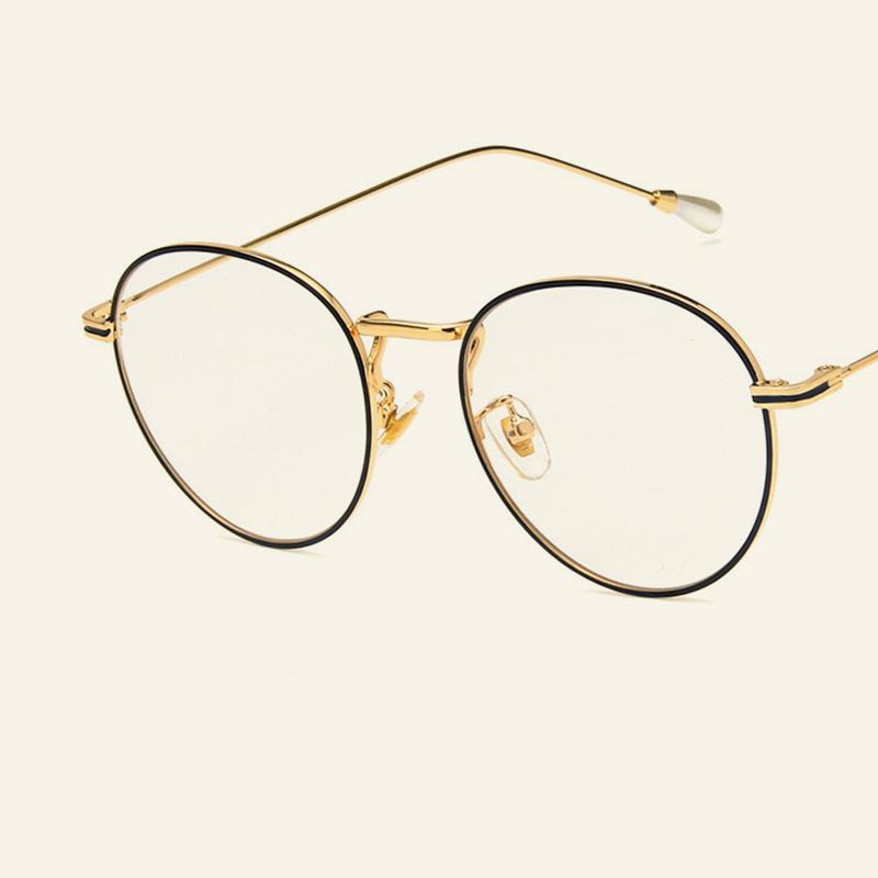 a0309f97251 2019 2018 Retro Circular Metal Eye Frames Personalized Pearl Legs  Fashionable Spectacles Frames Tidal Current Men Women Plain Mirror.