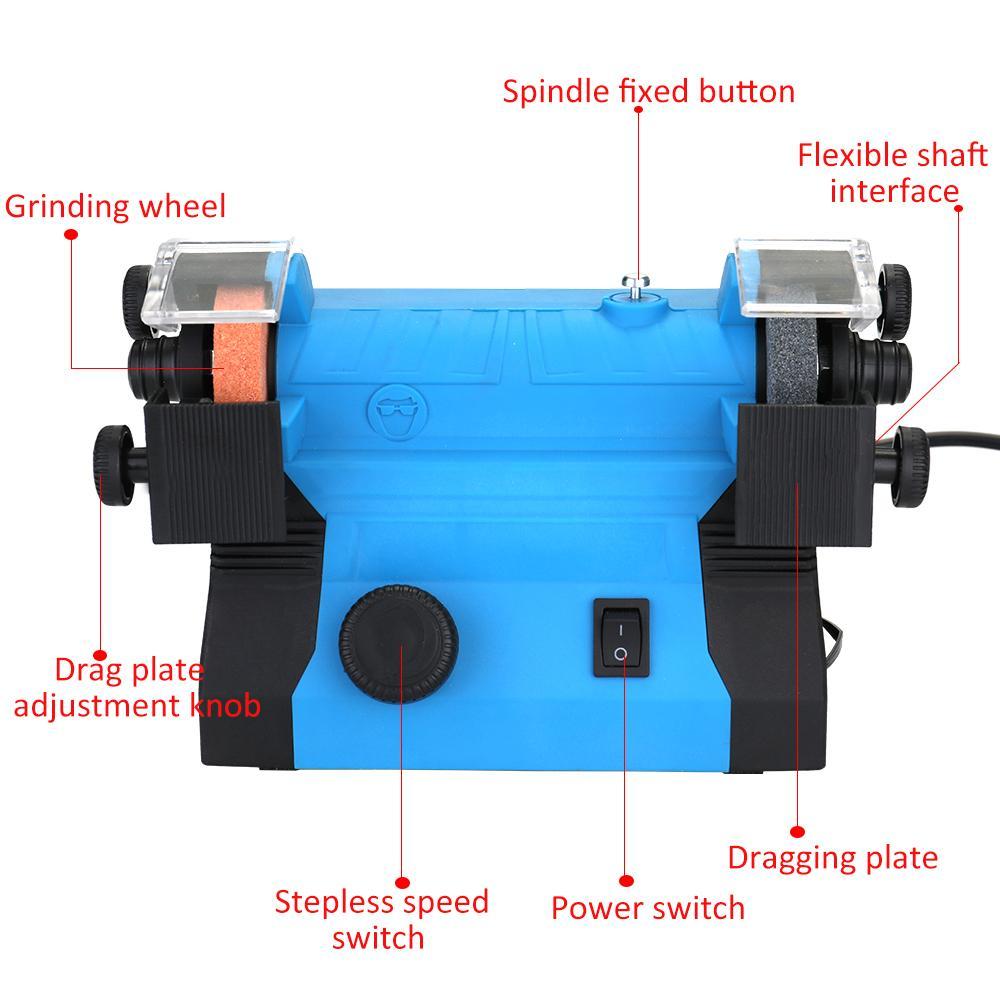 Desktop Multifunctional Electric Grinder Mini Polishing Machine Sharpener Household Grinding Tool