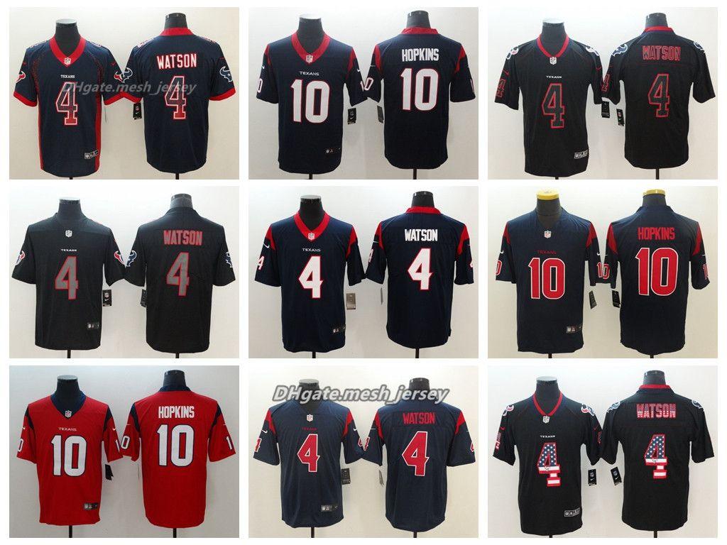 2018 Men Houston Jersey Texans 4 Deshaun Watson 10 Deandre Asty Top Hopkins Color Rush Football Stitching Jerseys Embroidery Logo From Aaa