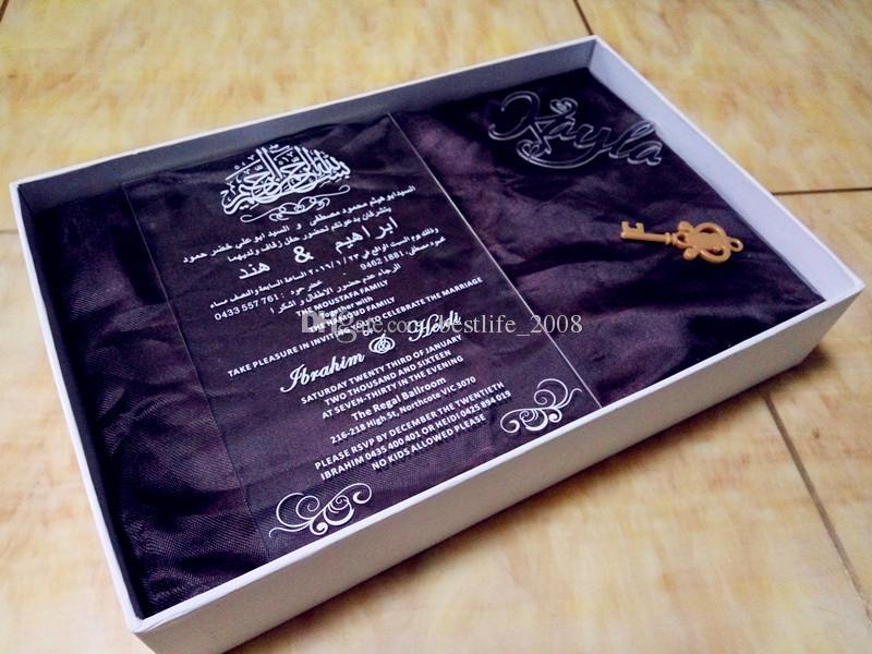 Clear Wedding Invitations: 2019 Clear Invitations Card, Acrylic Wedding Invitations