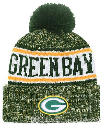 fb2be2674ba21d 2019 Winter Hat Green Bay Beanie Stripes Sideline Cold Weather Sport Knit  Hat Wool Bonnet Warm TD Graphite Official Reverse Cap Beanies Bow Ties For  Dogs ...