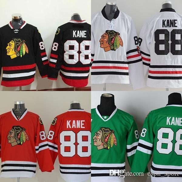 2d45b8a69 2019 Factory Outlet, Youth Chicago Blackhawks #88 Patrick Kane Kids Jersey  Black 100% Stitched Authentic Blackhawk Hockey Jerseys Shirt From  Espn_sport, ...