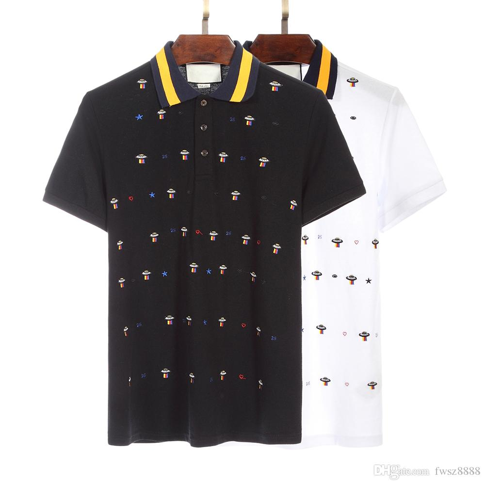 2019 Men Polo Shirt Embroidery Polo Men Pattern Camisa Polo