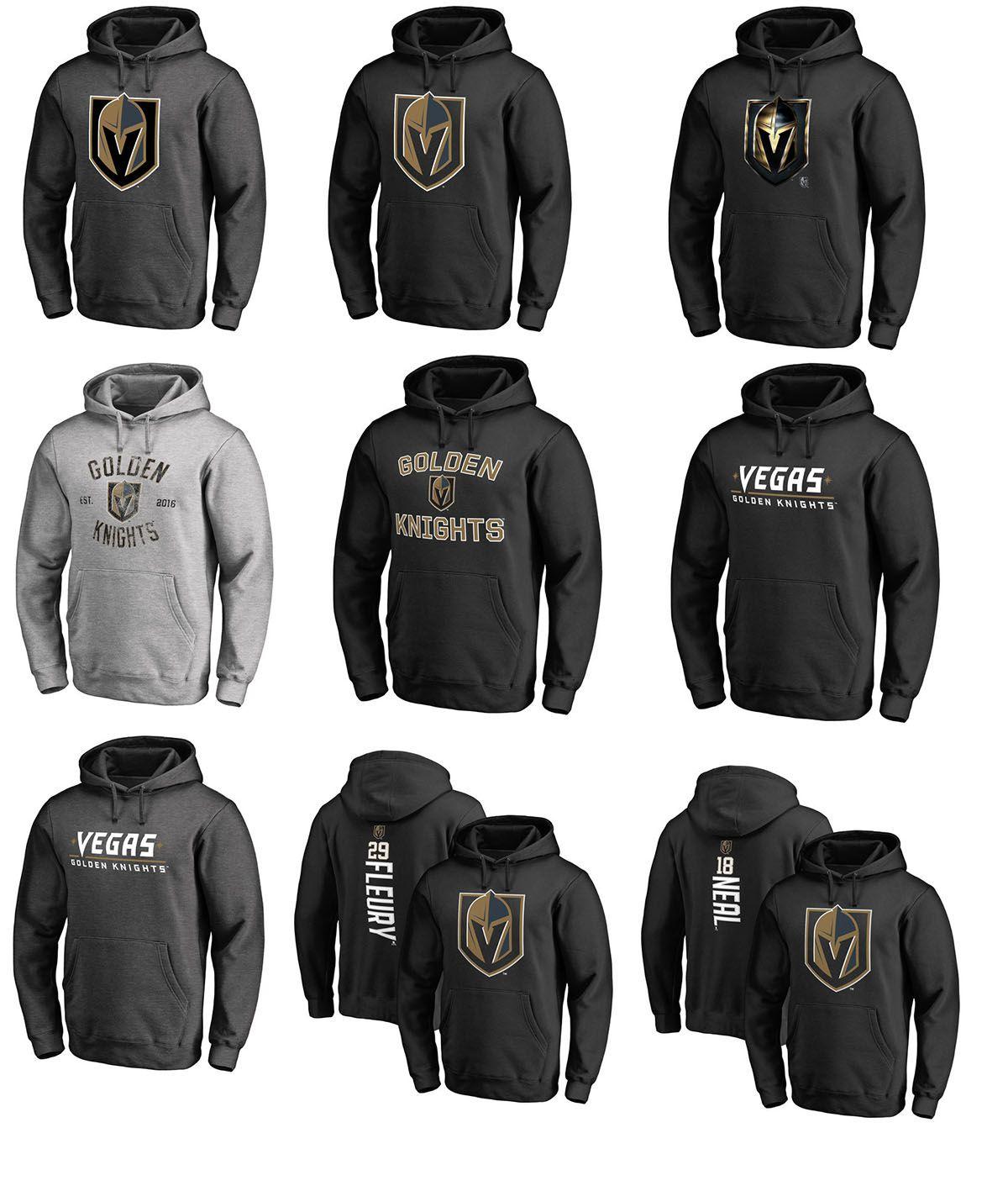 low priced f2dfa 4fd40 NHL Vegas Golden Knights hoodies 29 Marc-Andre 18 James Neal 71 William  Karlsson Deryk Engelland David Perron hockey hoodie sweatshirts