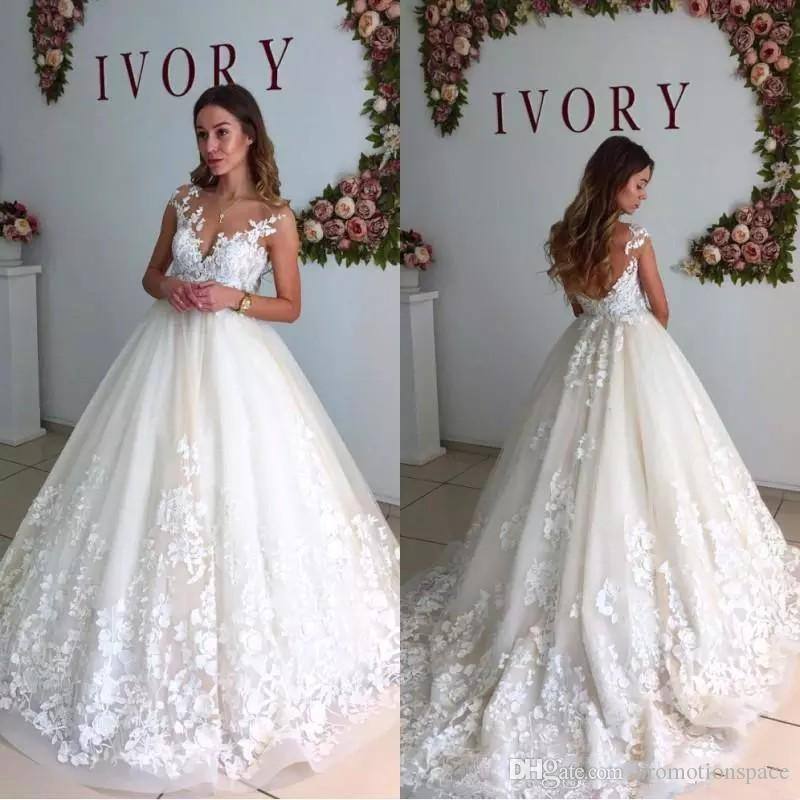 Acquista 2018 Eleganti Abiti Da Sposa In Pizzo Sheer Neck Cap Maniche  Maternità Incinta Backless Beach Plus Size Abiti Da Sposa Su Misura Ba6429  A  192.37 ... 8ec486ad7f15