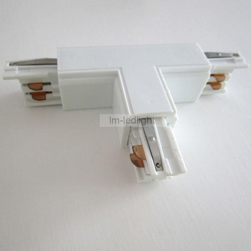 2018 4 wire 3 phase led track lighting rail t track connector in 2018 4 wire 3 phase led track lighting rail t track connector in black white rail tracks lighting connector free ship from fried 12393 dhgate aloadofball Image collections