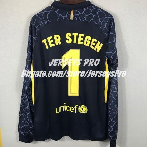 Manga Larga Completa Camisetas De Portero Ter Stegen Camisas Negras 2017  2018 Club Home Away Third Goalies Goalie GK Door Uniforms Football Kits Por  ... d43e71b57ec0d