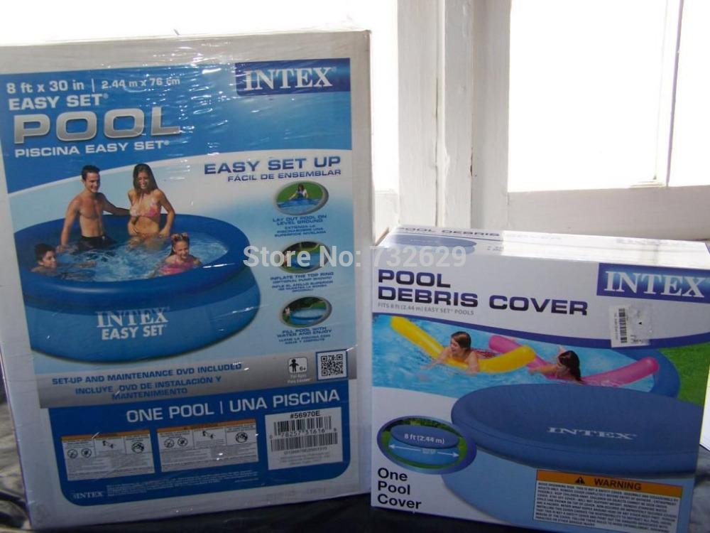 NEW 8 x 30 Intex Easy Set Round Above Ground Pool Inflatable 56970E Cover