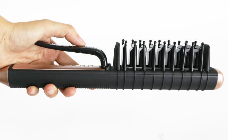 Genunie Alisador de Cabelo Pente Alisador de Escova Elétrica Magia Alisador de Cabelo Rápida Styling Ferramenta de cuidados com os cabelos dispositivos DHL livre com caixa