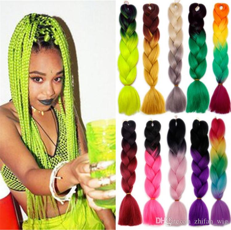 2018 Z&F Jumbo Braids Extensions Braids Hairstyles Uk 24inch Pure ...