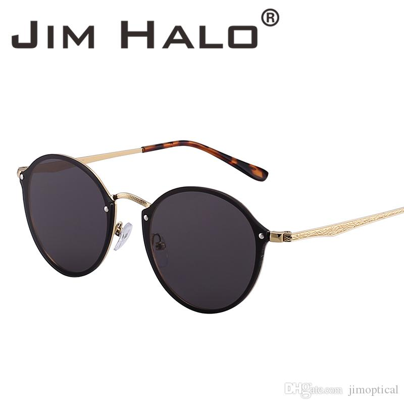 Compre Jim Halo Rimless Espejo Redondo Ligero Gafas De Sol De Metal Mujeres Hombres  Moda Retro Gafas De Sol Diseño De Marca Lunettes De Soleil A  9.76 Del ... 6a704392309d