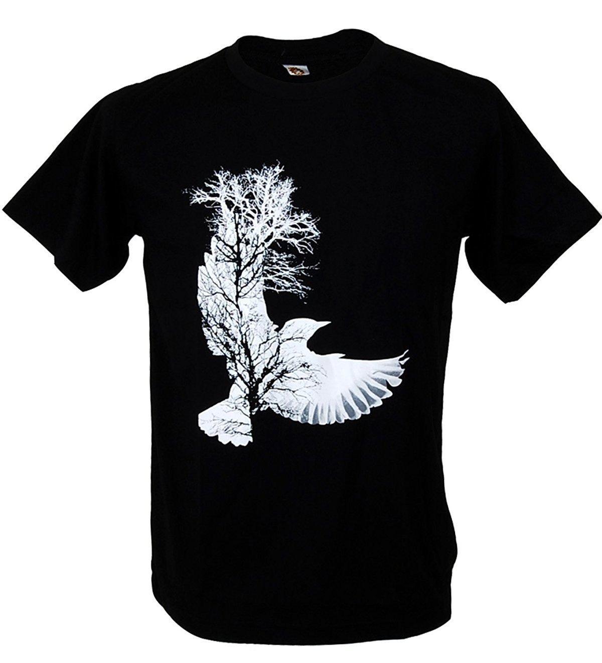 Bird tree design graffiti art graphic t shirt design t shirt mens high quality t shirts 2017 brand clothes slim fit printing online shirts t shirt design