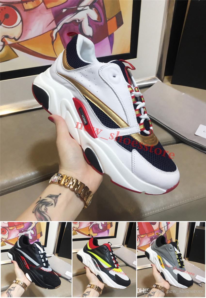 ee5d6fa7ff0028 Acheter Chaussures De Designer Pour Hommes Sneaker Luxury D Leather  Confortable Casual B22 Trainer Marcher Knit Meshu Up Chaussures De $9.95 Du  ...