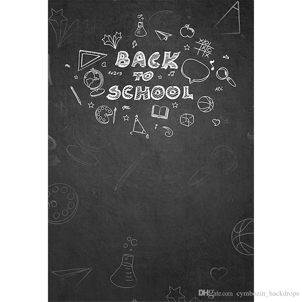 2018 back to school themed photography backdrop digital printed