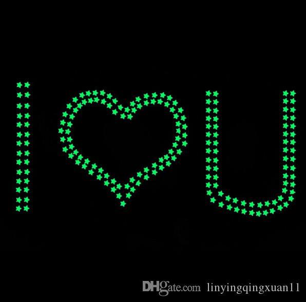 3cm / 팩 어두운 별 빛나는 형광등 플라스틱 벽 스티커 홈 데코 벽지 장식 특별 축제