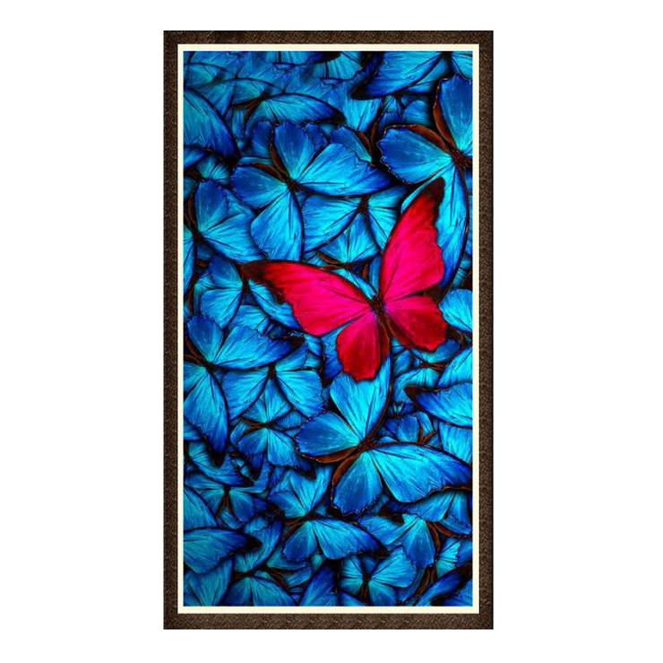 Großhandel 5d Wein Blau Schmetterling Diamant Abstrakte Kunst Diy ...