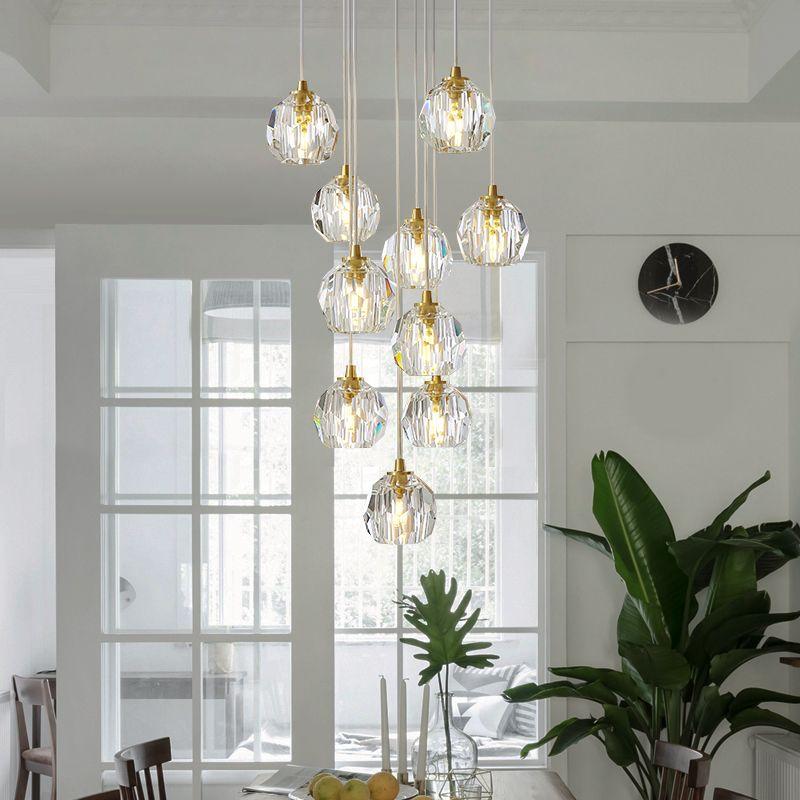 Grosshandel Postmoderne Kristall Pendelleuchten Esszimmer Lampe Cafe