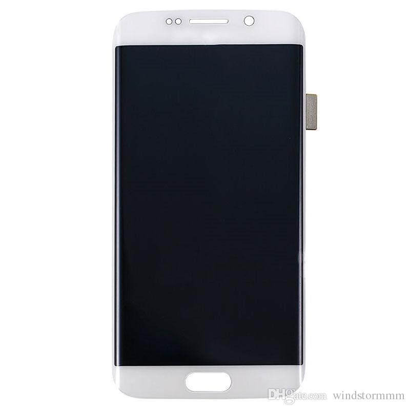 Original LCD Display Screen with Touch Screen for Samsung Galaxy S6 edge white black blue free DHL