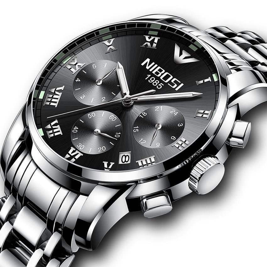 41066602db3 Compre Nibosi Relógio De Alta Qualidade Homem Relógios 2018 Marca De Luxo  De Aço Inoxidável Relógio Masculino Marca Top Homem Relógios Dos Homens  Relógio À ...