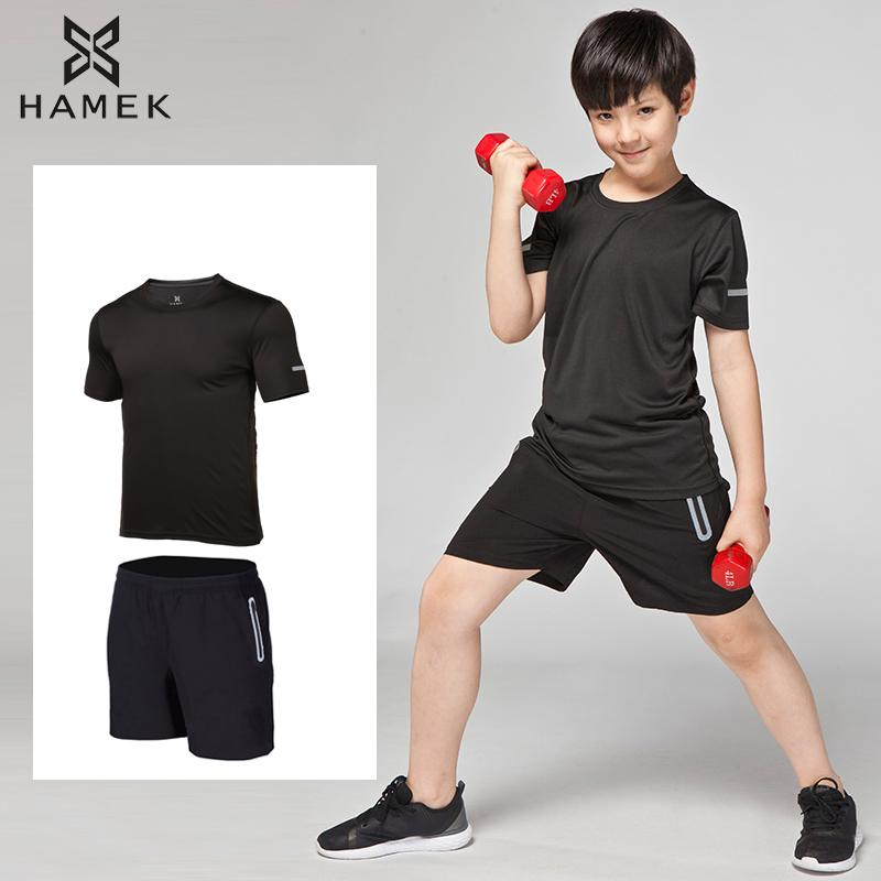 3f12992c3e6f High Quality Sport Suits Kids Shirt+Shorts 2 pieces Children GYM Clothing  Boys Custom Running Sets training kits Clothes Summer