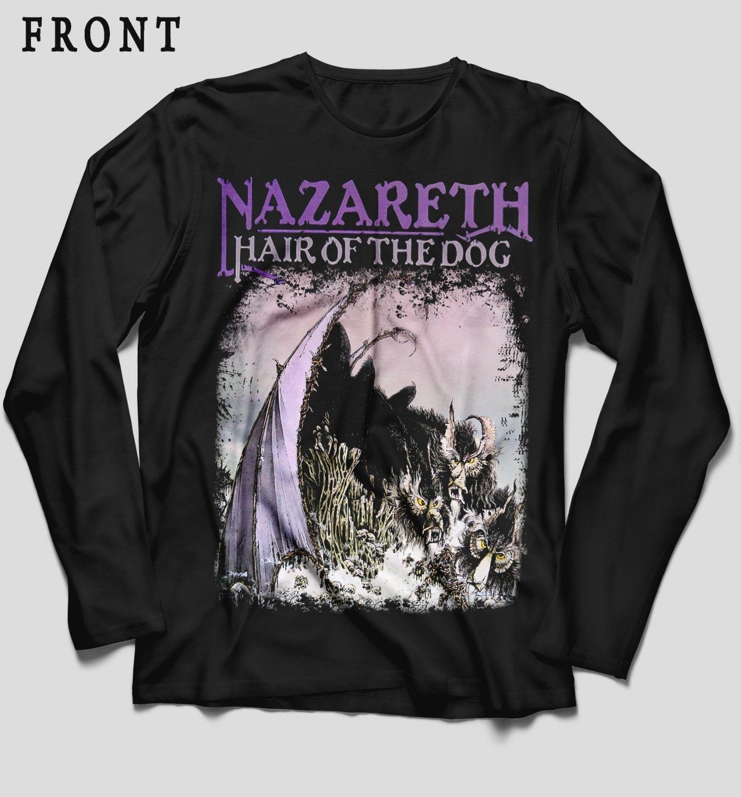 fafc76c82ff8 NAZARETH Hair Of The Dog Hard Rock Band ,T Shirt LONG SLEEVE Sizes:S To XXL  Crazy Design Shirts Best Tee Shirt Sites From Banwanyue3, $15.28| DHgate.Com