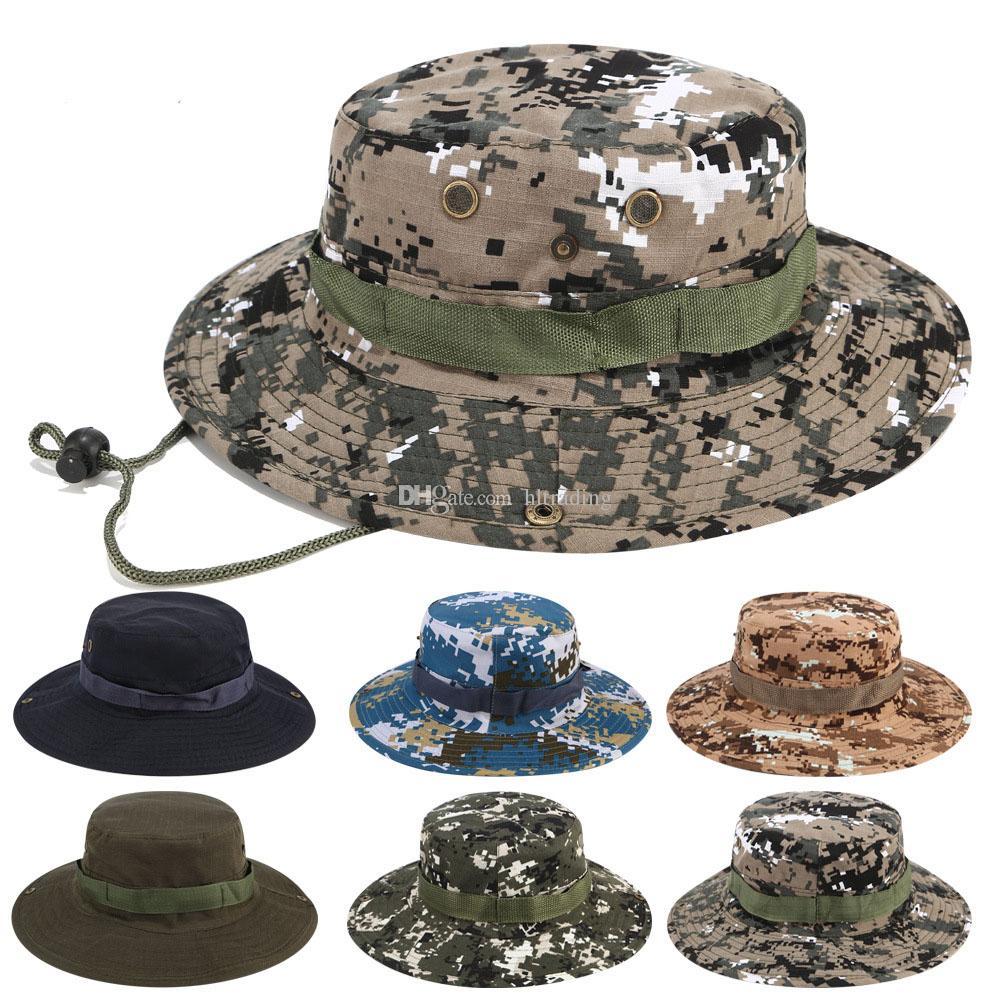 Ведро шляпы снайпер камуфляж Cap военная армия аксессуары походные шляпы джунгли восхождение cap 17 цветов большие мальчики зонт hat C4329