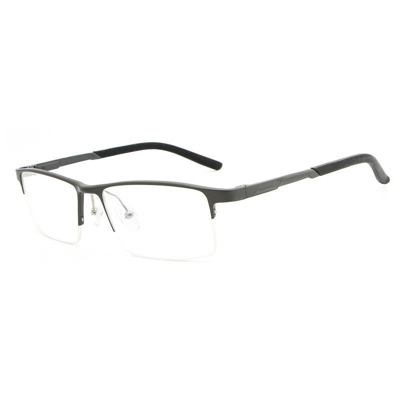 01bbcf1c1d2 Cubojue Aluminium Eyeglasses Frame Men Clear Plain Eyeglass Prescription  Spectacles Frames for Man Spring Hinge Wide Half Rim Eyewear Frames Cheap  Eyewear ...