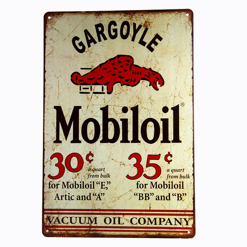 2019 Vintage Home Decor Gargoyle Mobiloil Plaques Signs Bar Posters Metal Tin Wall From Tin2world1 252