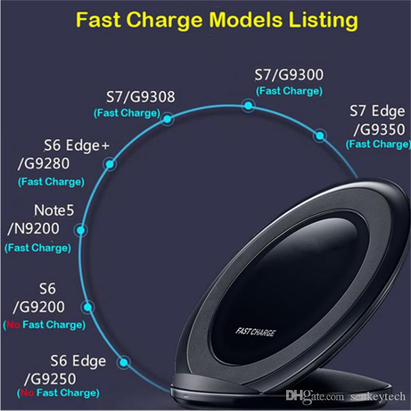 Cojín de carga inalámbrico rápido vertical QI cargador rápido inalámbrico con ventilador para Samsung Galaxy S6 edge plus, s7, s8, note8, iphone8