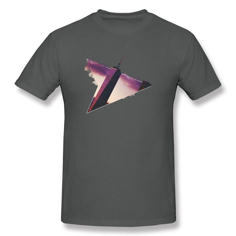 Wholesale Men Pure cotton City Escape T-Shirts Men Round Collar Dark Green Short Sleeve Tee Shirt S-6XL Design T-Shirts