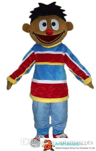 Großhandel Erwachsene Bert Und Ernie Maskottchen Kostüm Cartoon
